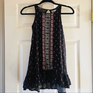 NWT Epic Threads Girls Boho Black Floral Dress M